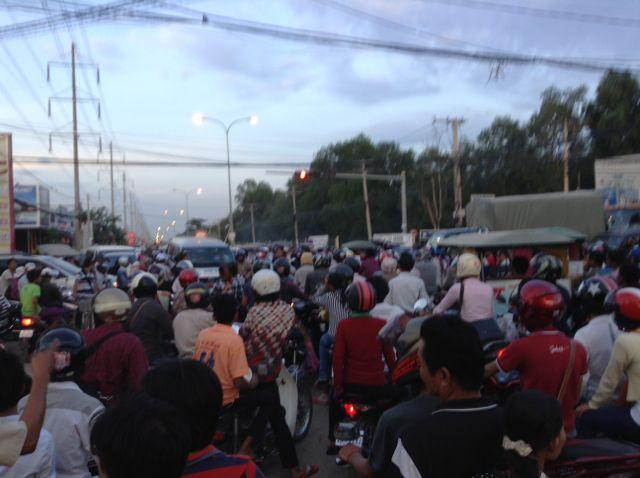 Atascos en Phnom penh