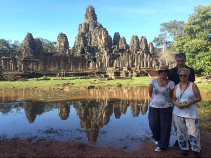 Ludi y Julia viajaron a Camboya