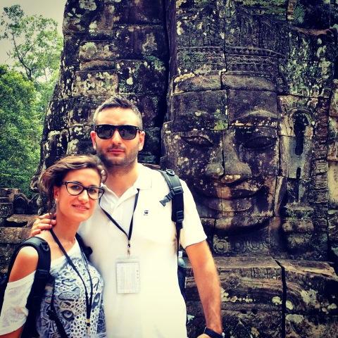 Aida e Isaias en Camboya