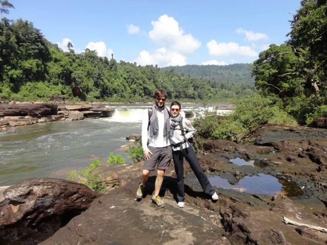 Antonio y Ana en su viaje a Camboya