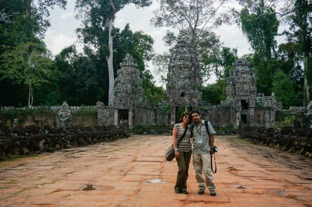 Antonio y Ángeles en Camboya