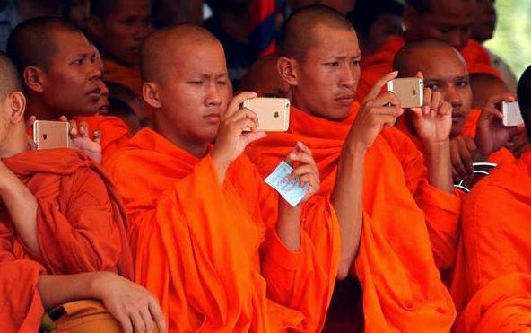 Monjes en Camboya