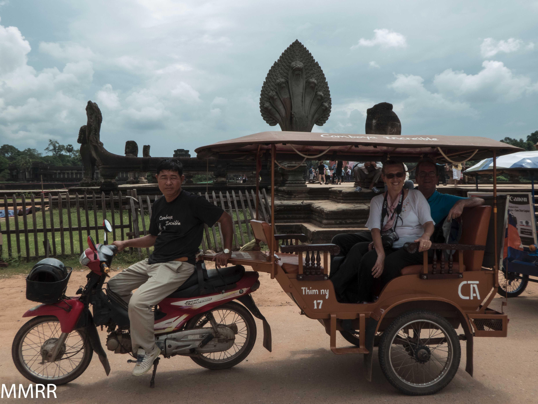 Mercedes y Rafael viajaron a Camboya