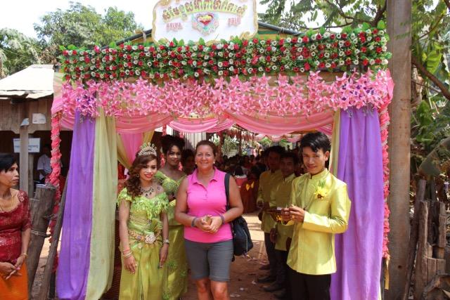 en una boda Camboyana