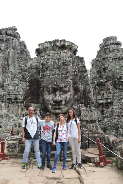 Ramon y familia en Camboya