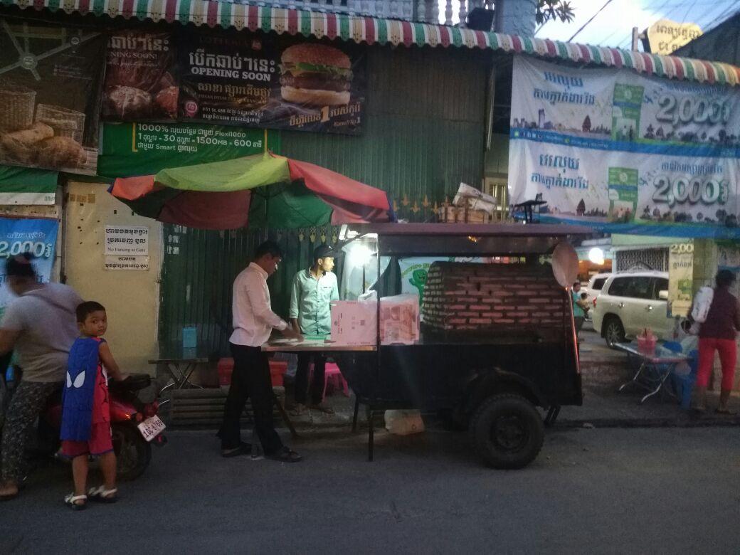 Pizza en Camboya