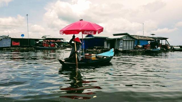 David y Montse en Camboya