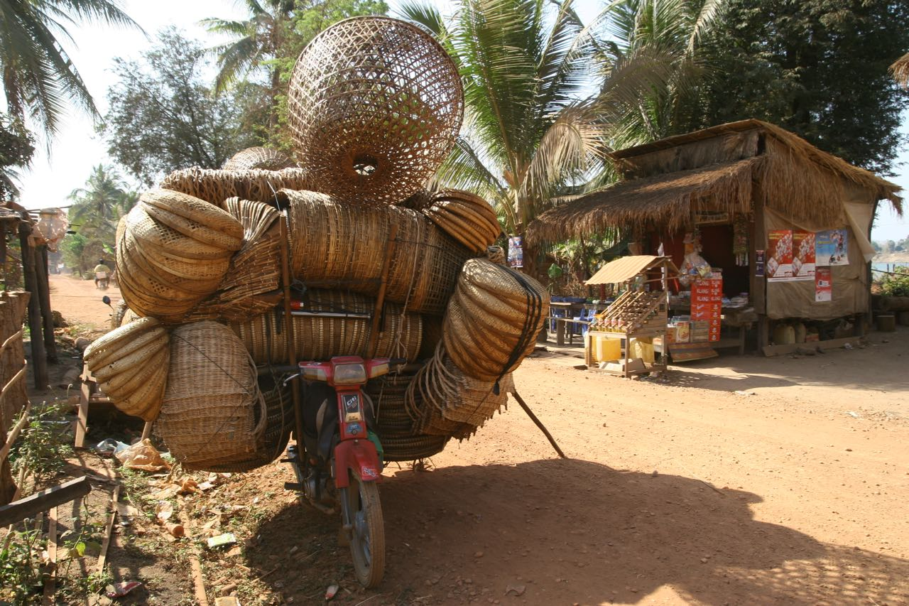Moto en Camboya