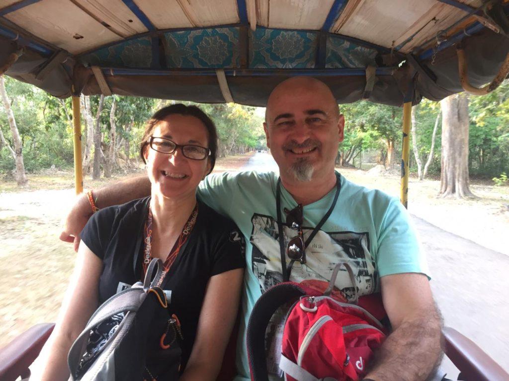 Susana y Guille también decidieron viajar a Camboya