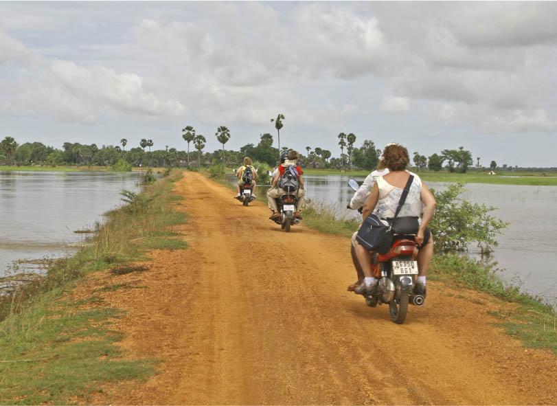 Salidas en moto en Camboya