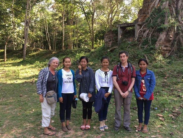 Iñaki y Concha en Camboya