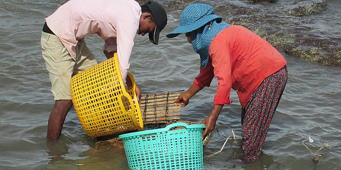 pescadores en Camboya