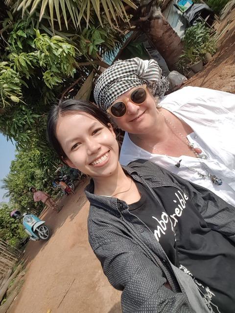 Nuria y Antonio en Camboya
