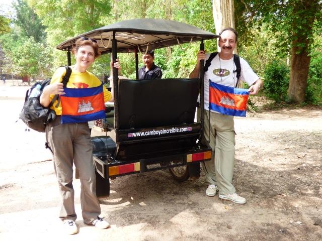 Àngels i Xavier en su viaje por Camboya