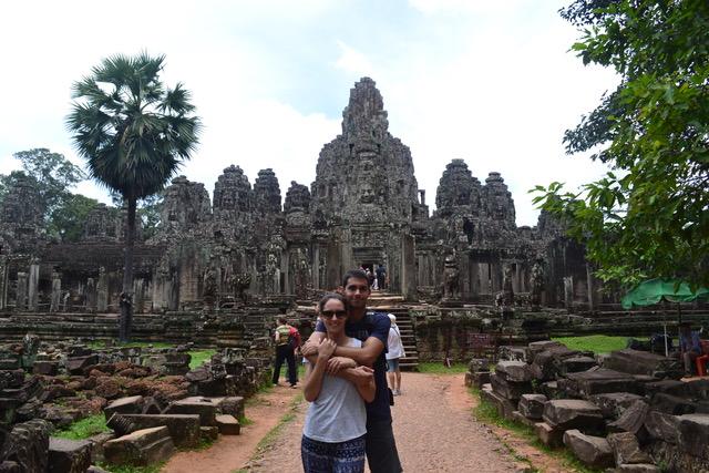 Alex y Jesica en Camboya