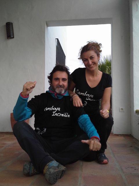 Alex y Cristina en Camboya