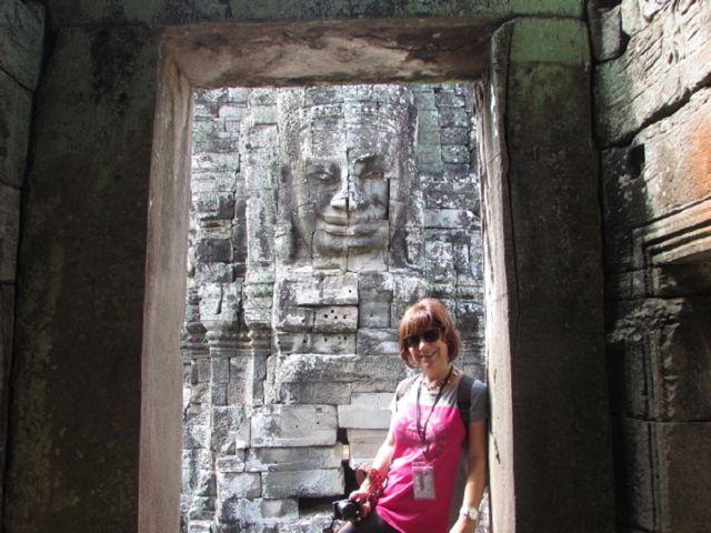 Amor en los templos de Angkor en Camboya
