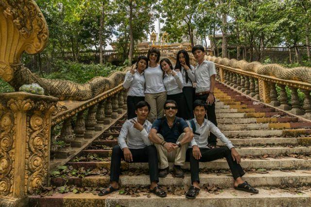 Antonio y Ángeles en su viaje a Camboya