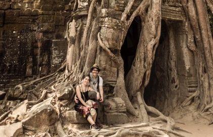 Carlos y María en Camboya