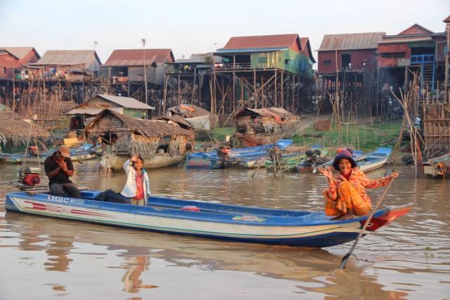 Una aldea flotante en Camboya