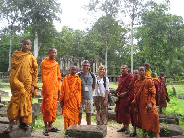 Genar y Mireia en Camboya