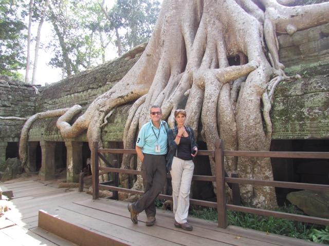 Luis y María José en Camboya