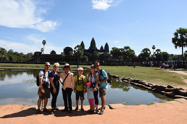 Un grupo de viaje por Camboya
