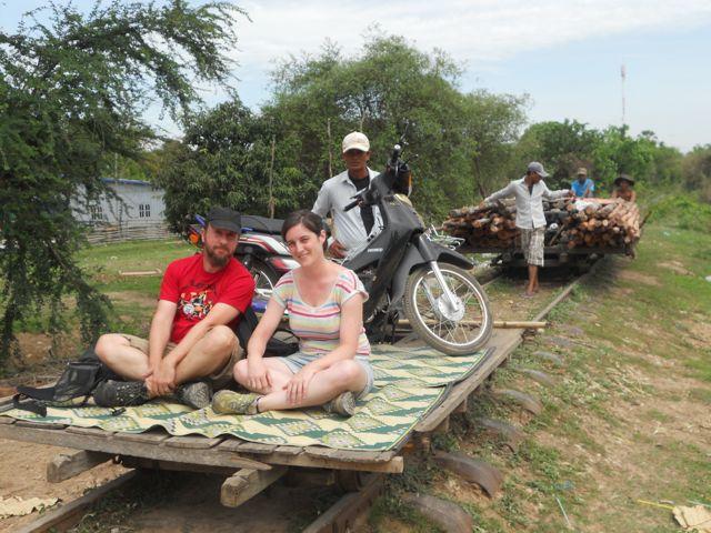 Naiara y Jorge en su viaje a Camboya