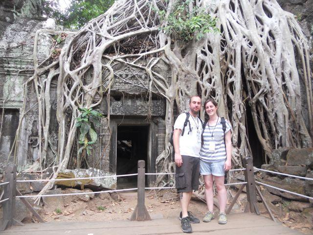 Naiara y Jorge en Camboya