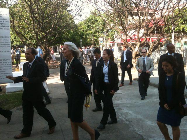 Christine Lagarde en Camboya