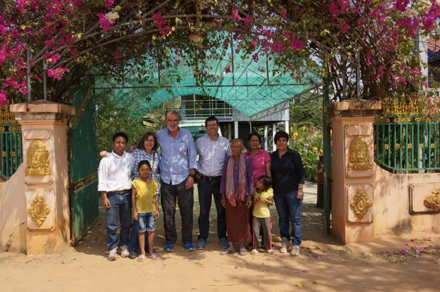 Antonio, Dolors, Quim i Marta en Camboya