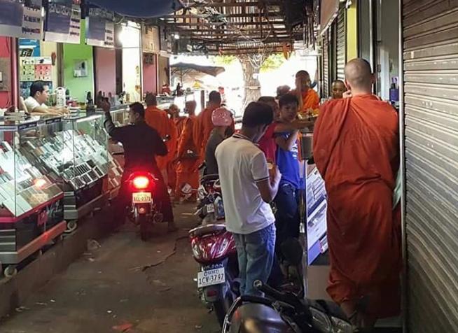 Monje en Camboya