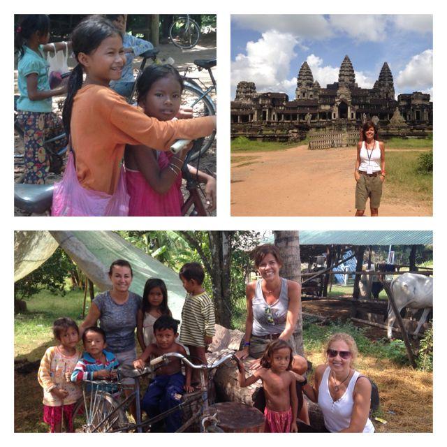 Isa en su viaje a Camboya