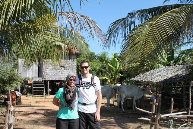 Paloma y Javi en Camboya