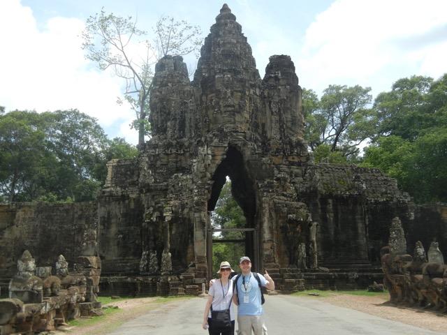 Rafael y Marlene en Camboya