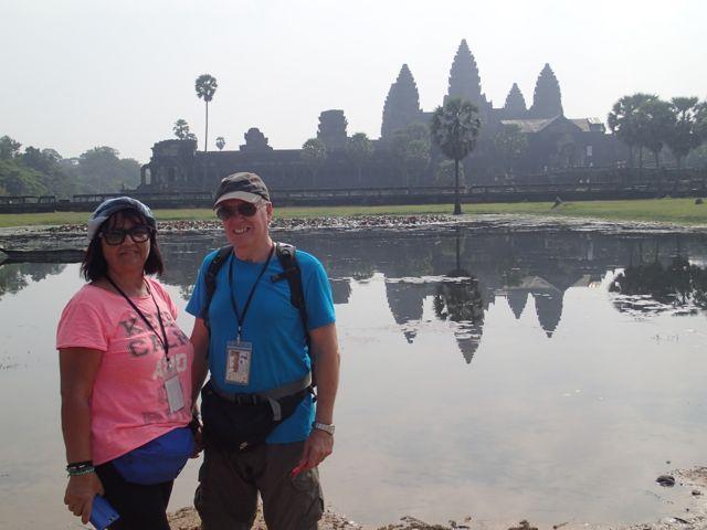 Susana y Salvador en Camboya