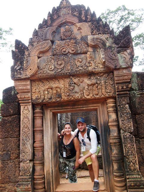 Víctor y Vicky en Camboya