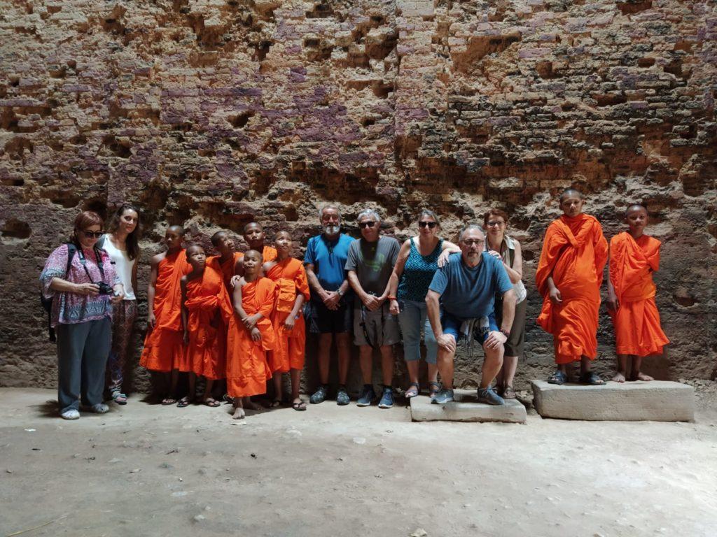 dentro de un templo en Camboya