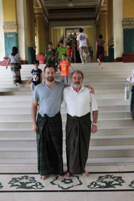 en la puerta de schwedagon