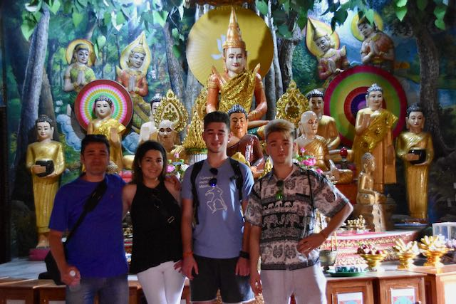 En una pagoda