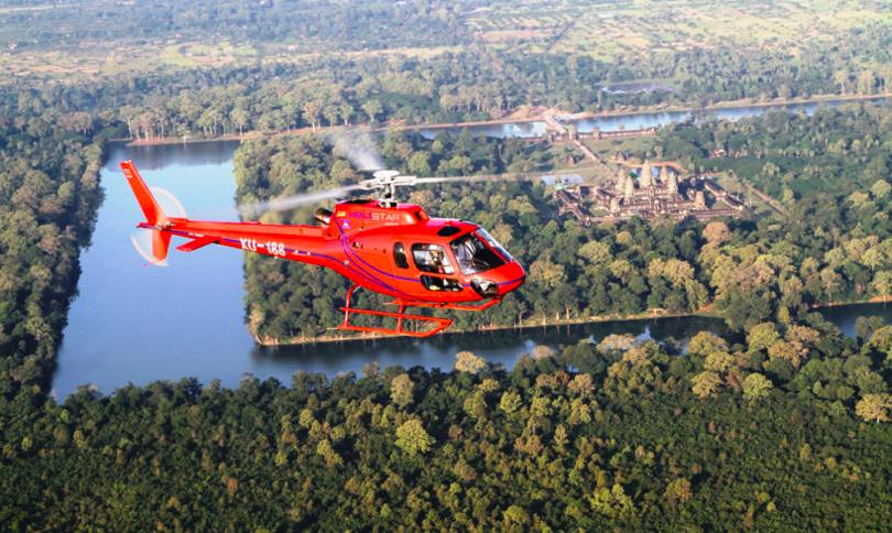 Helicóptero en Camboya