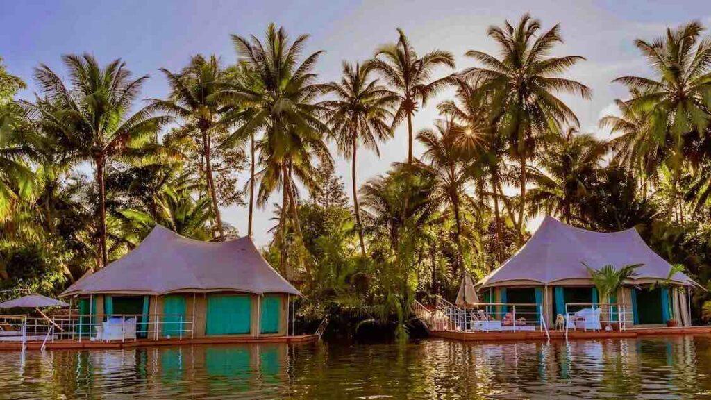 Hotel flotante en Camboya