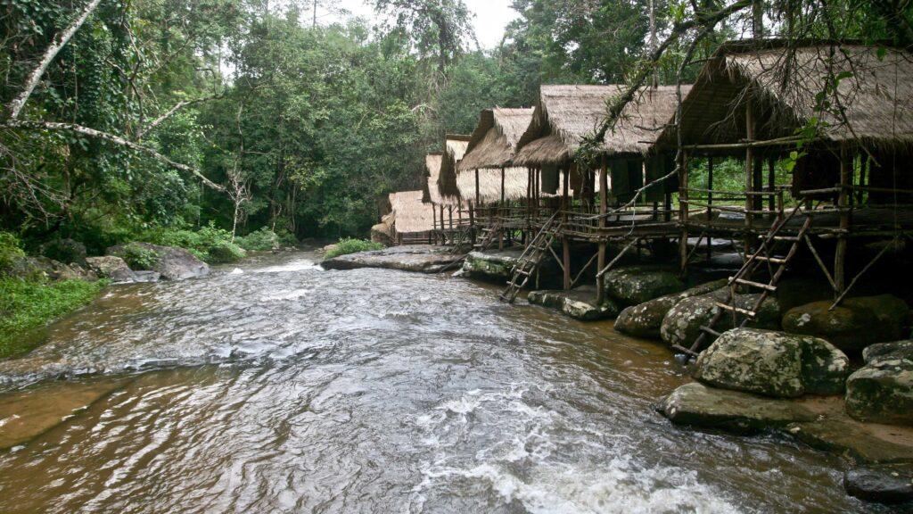 Río remoto en Camboya
