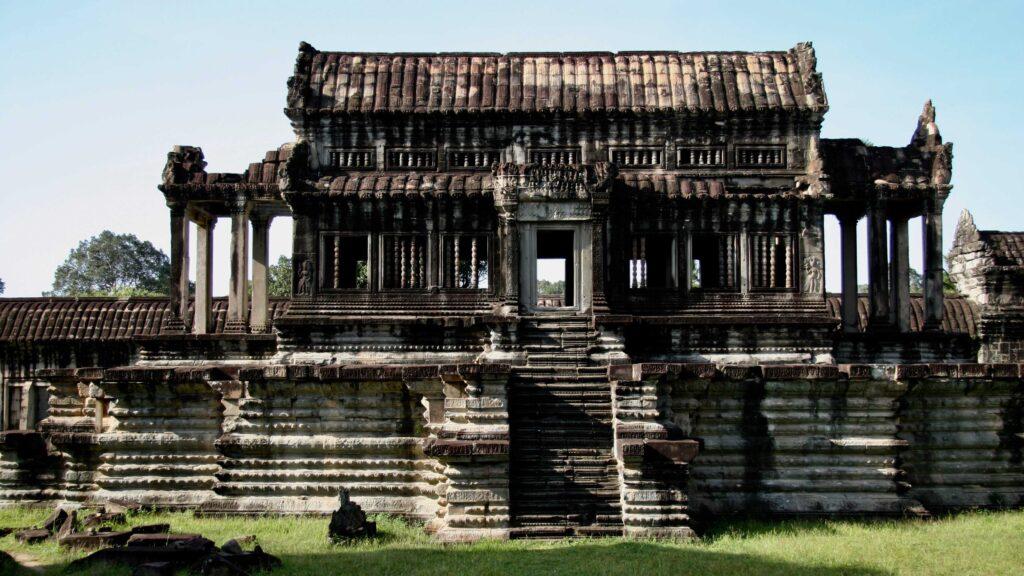 Biblioteca destempló en Camboya